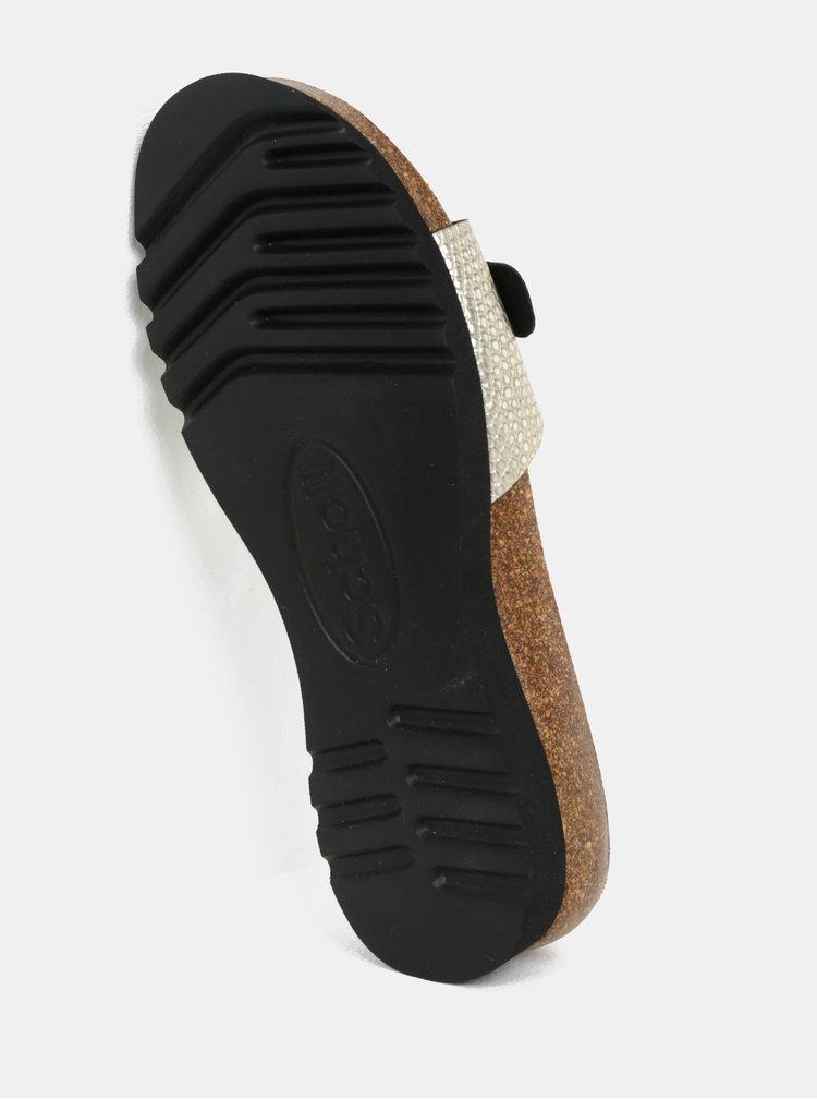 Krémové dámské zdravotní pantofle Scholl Ginni