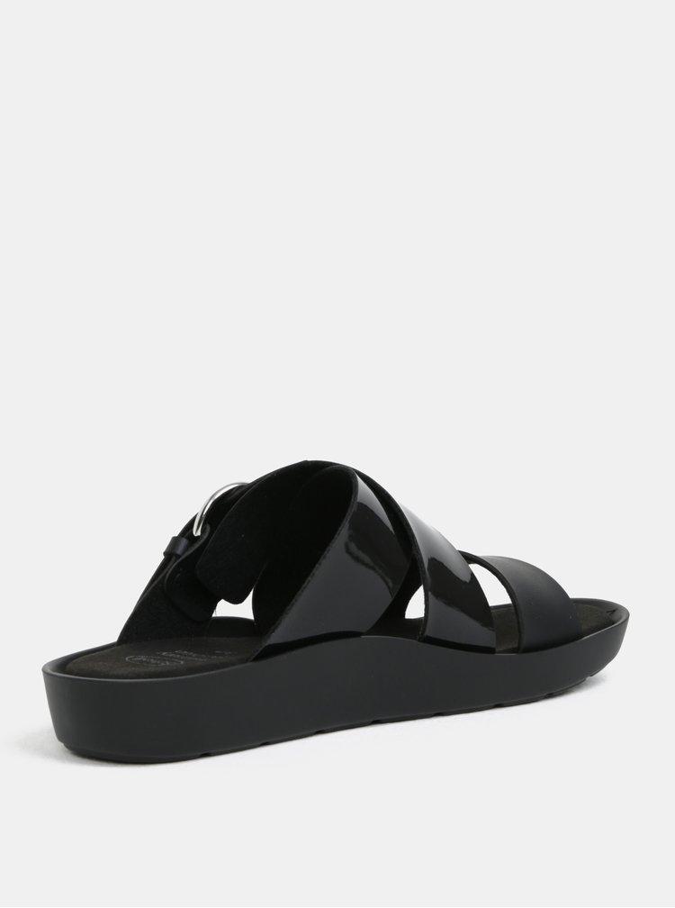 Černé dámské zdravotní pantofle Scholl Marmaris