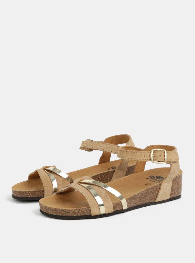 Hnědé dámské semišové zdravotní sandály Scholl Kelly