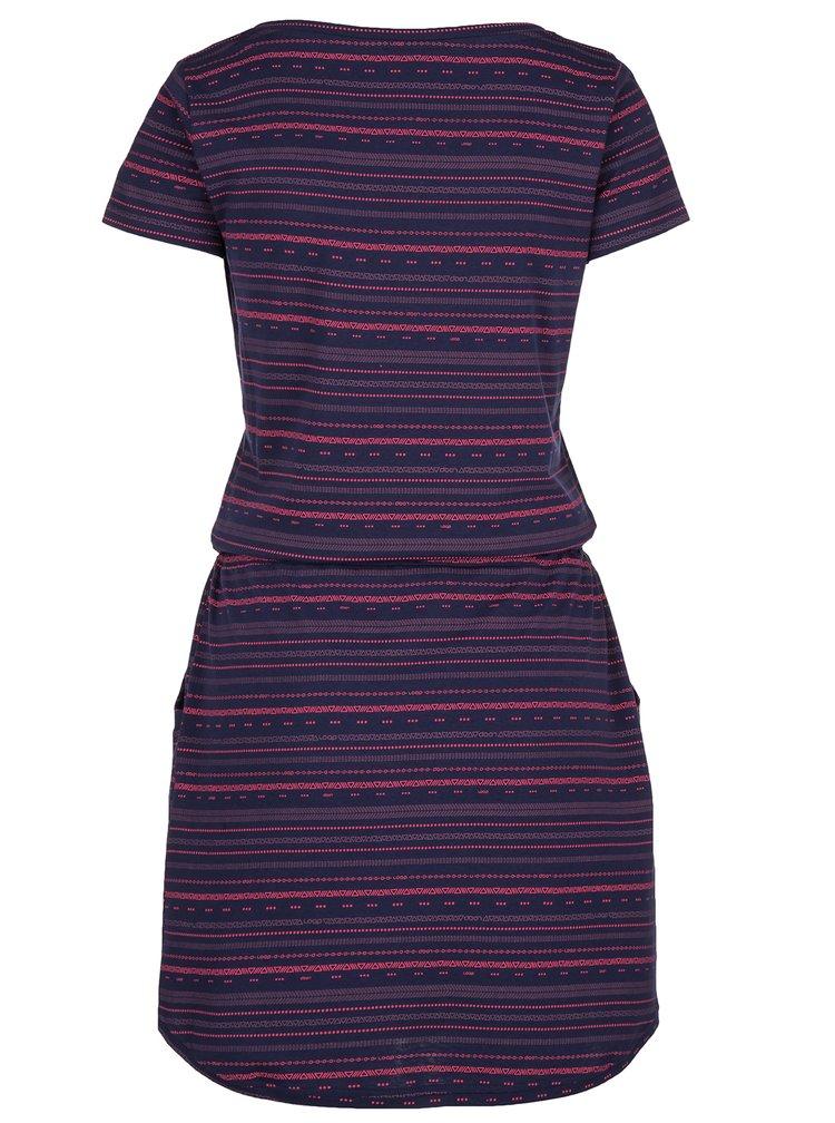 Tmavě modré vzorované šaty LOAP Alecia