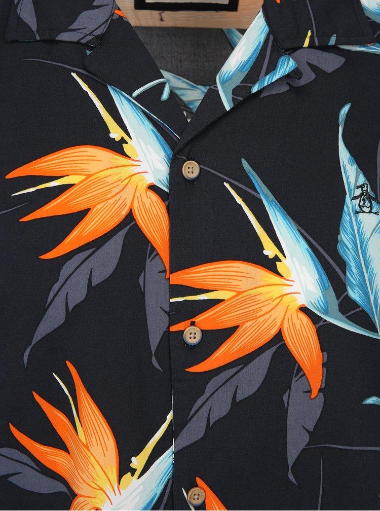 Tmavě modrá vzorovaná košile Original Penguin