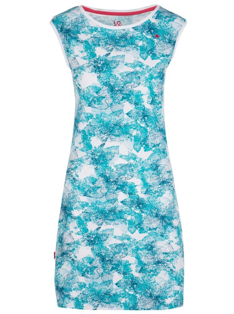 Bílo-modré květované šaty LOAP Brea