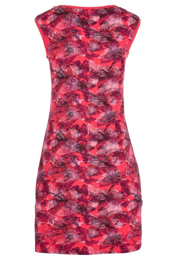 Čierno-ružové kvetované šaty LOAP Brea