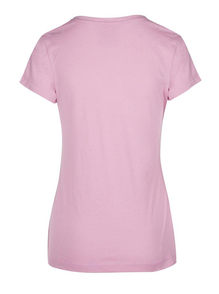 Tricou de dama roz deschis cu print LOAP Byblosa