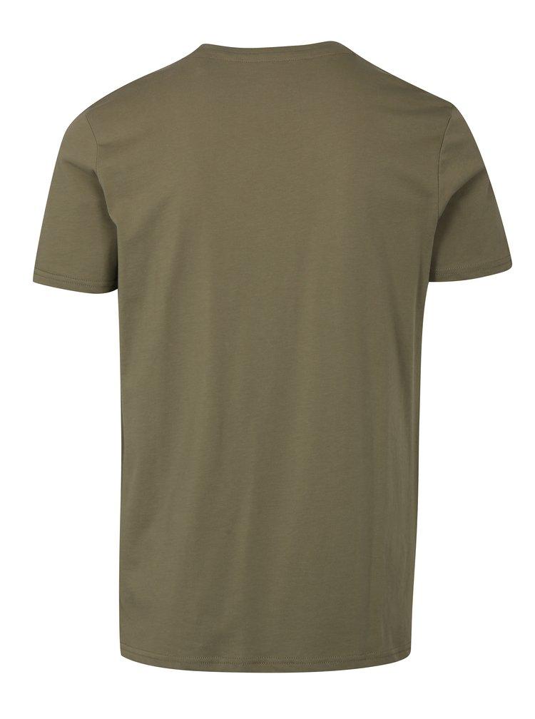 Zelené pánské tričko ALPHA INDUSTRIES