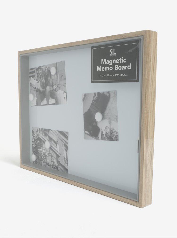 Bílá magnetická tabule v rámu SIFCON