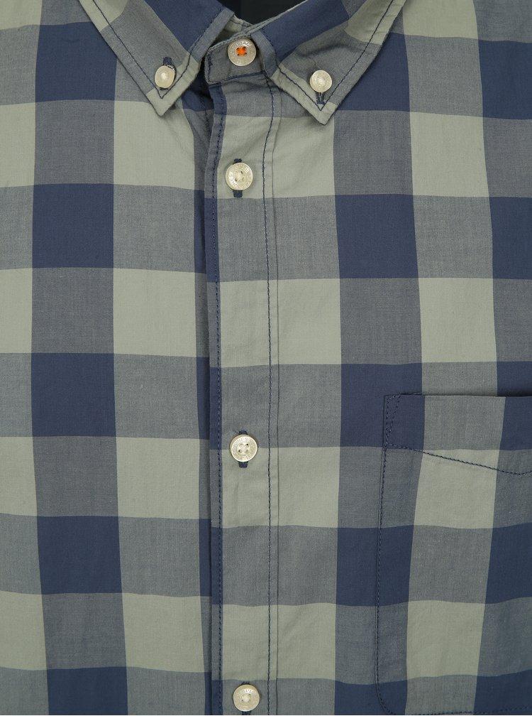 Modro-zelená kostkovaná plus size košile Jack & Jones Boise