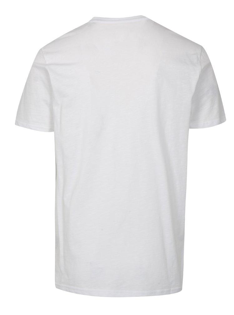 Bílé pánské tričko s potiskem ALPHA INDUSTRIES