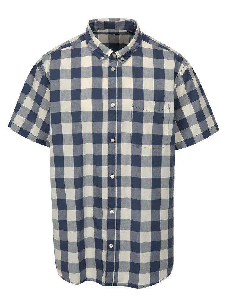 Modro-bílá kostkovaná plus size košile Jack & Jones Boise