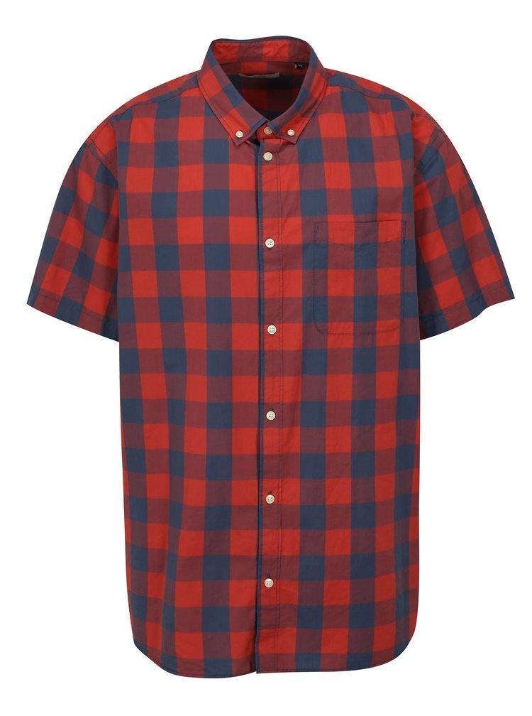 Modro-červená kostkovaná plus size košile Jack & Jones Boise