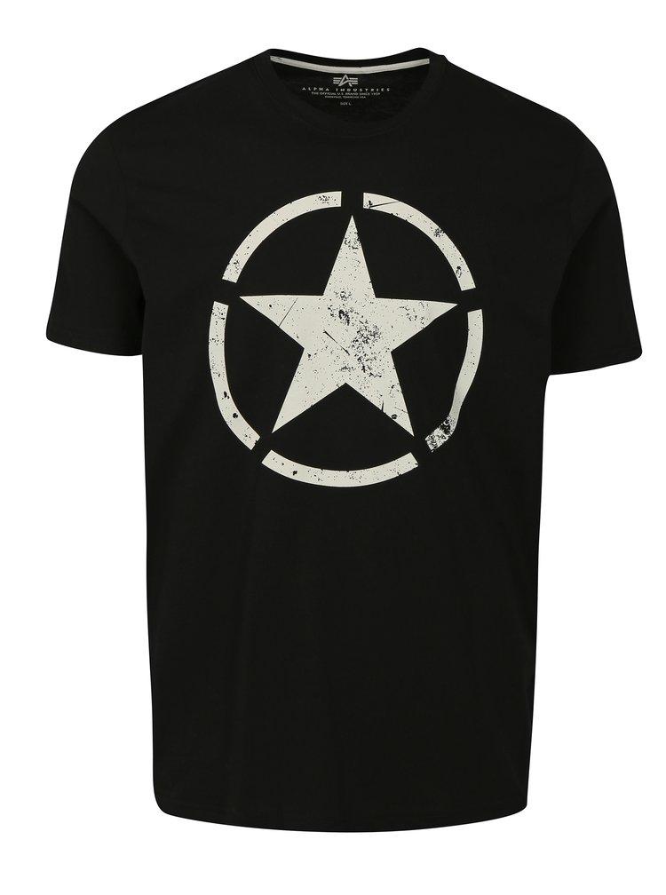 Černé pánské tričko ALPHA INDUSTRIES