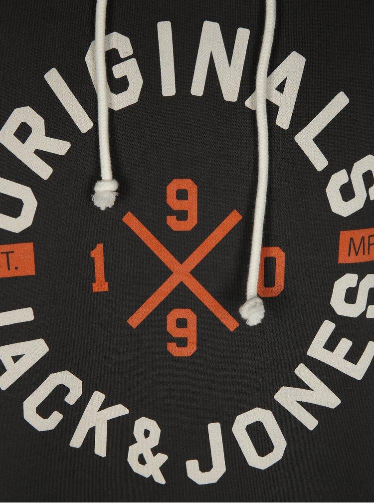 Tmavě šedá mikina s kapucí Jack & Jones Art