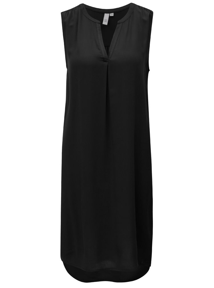 Černé šaty s véčkovým výstřihem s.Oliver