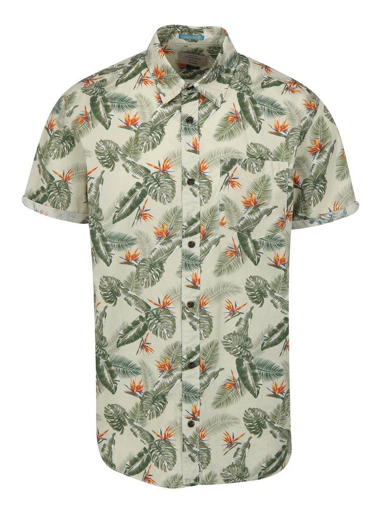 Zelená vzorovaná košile Jack & Jones Paka