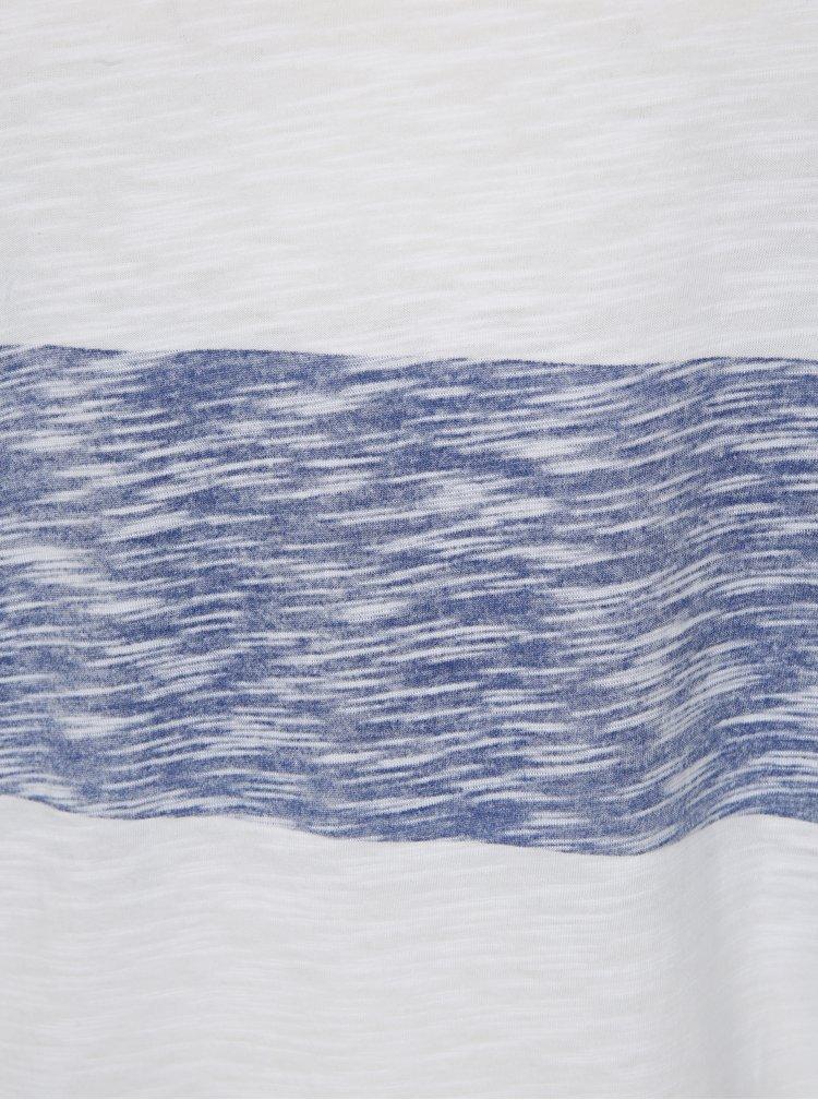 Modro-bílé pruhované slim fit tričko Jack & Jones Stripy