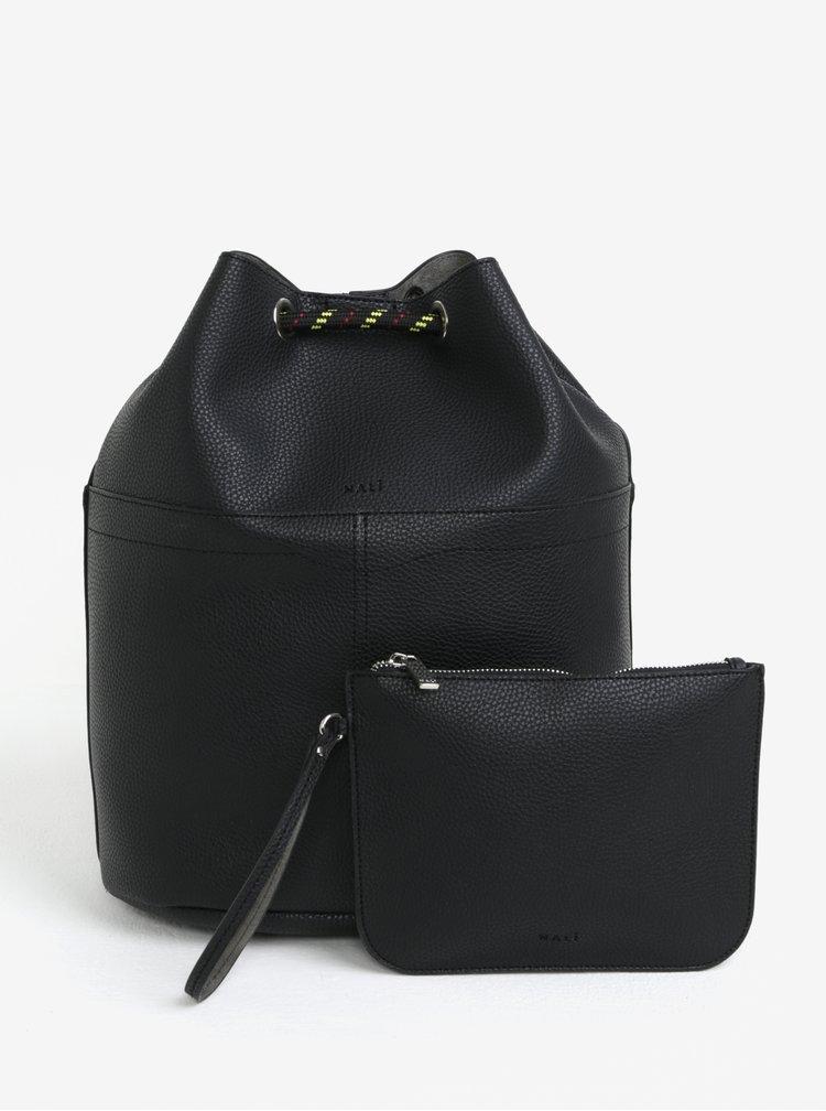 Černý koženkový vak 2v1 Nalí