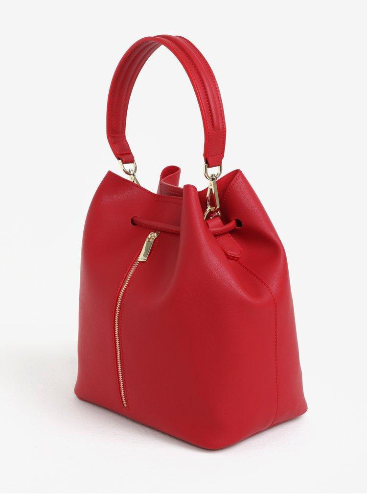 Červená vaková kabelka/batoh s pouzdrem 2v1 Nalí