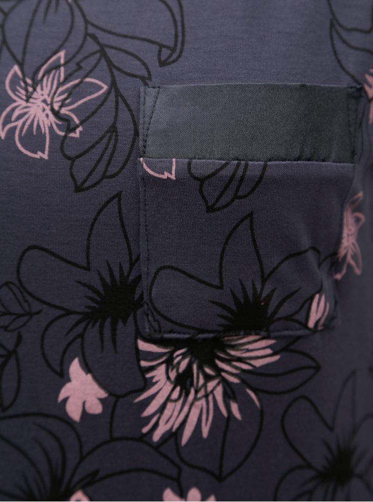 Tmavě šedá vzorovaná noční košile M&Co