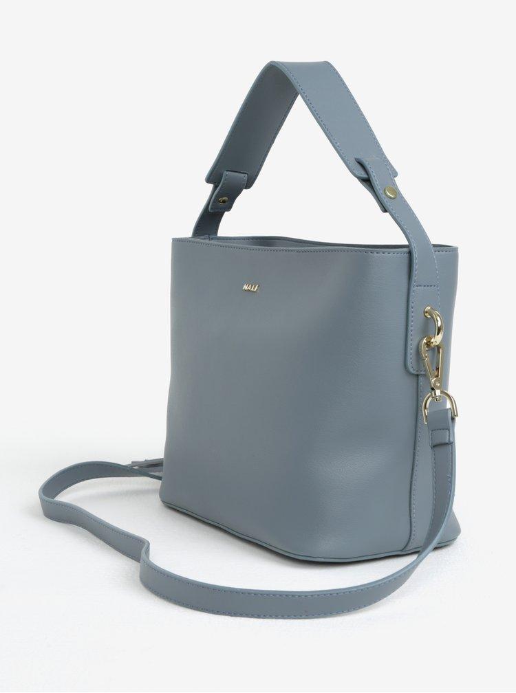 Šedá kabelka s třásněmi Nalí