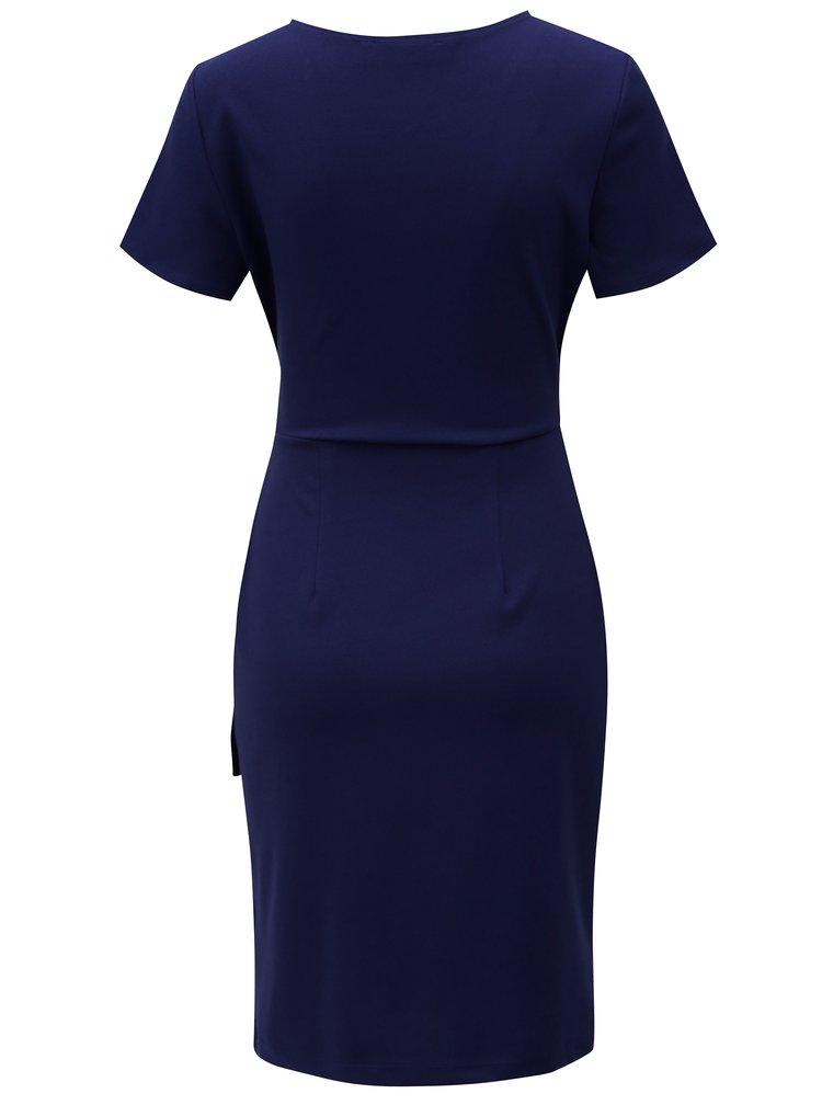Tmavě modré šaty s uzlem Dorothy Perkins