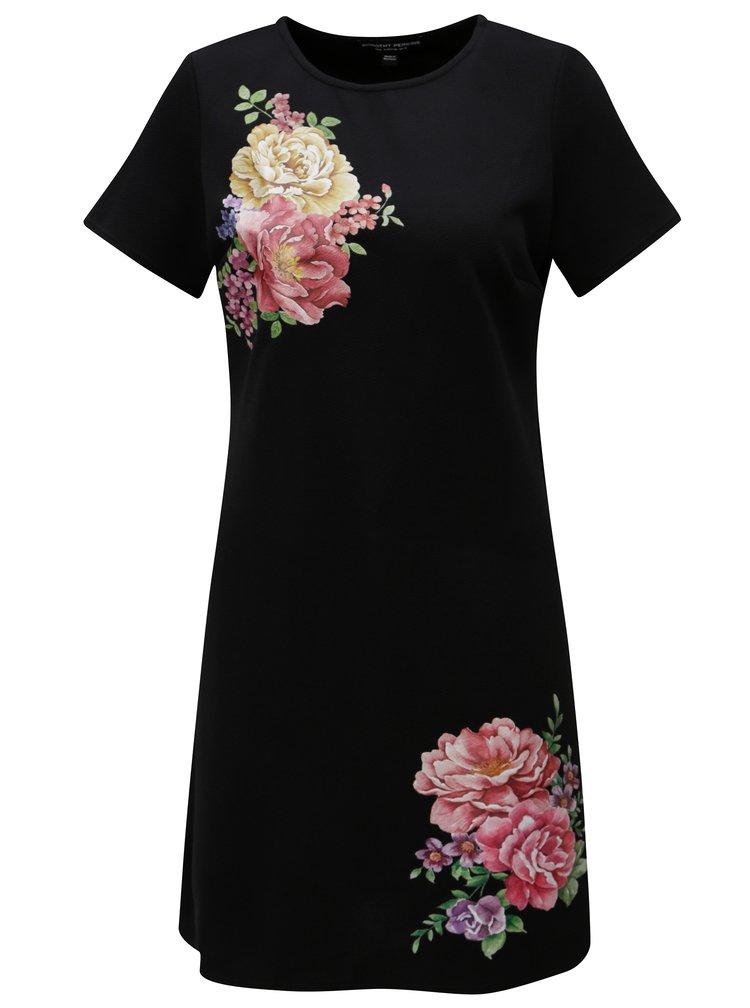Černé šaty s potiskem Dorothy Perkins