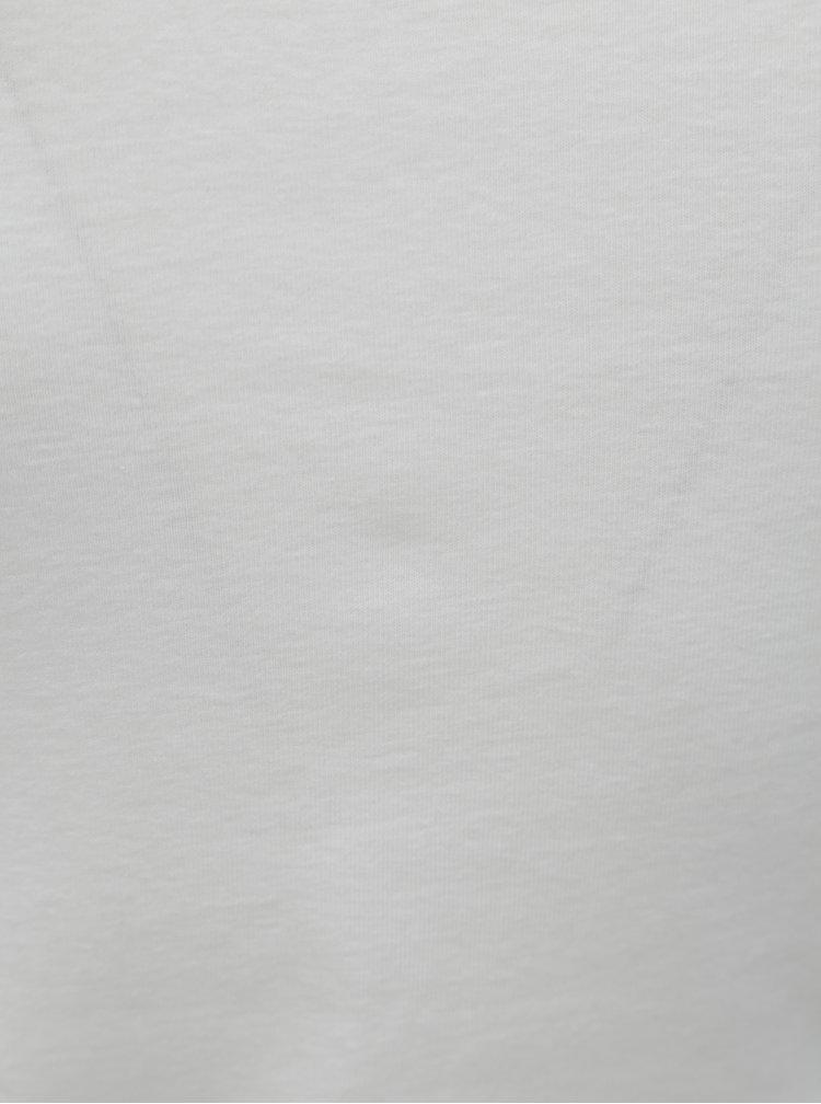 Bílé dámské basic tričko s krátkým rukávem M&Co