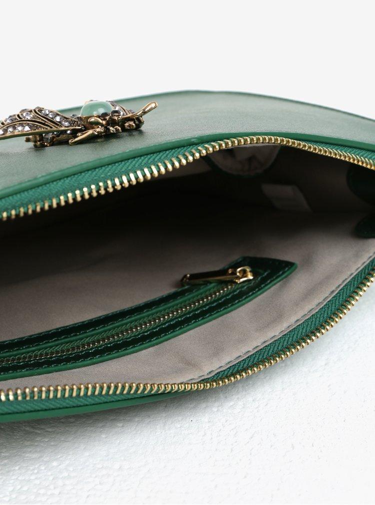 Zelená kabelka s ozdobou a detaily ve zlaté barvě Nalí