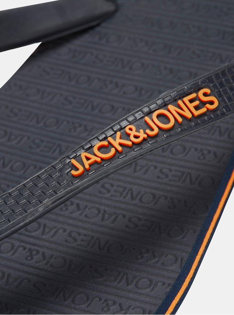Tmavě modré žabky Jack & Jones Basic