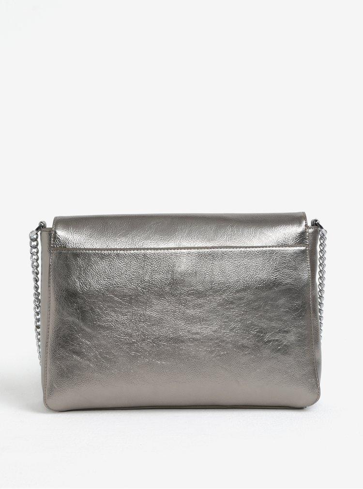 Geanta peste umar argintiu-metalic Nalí