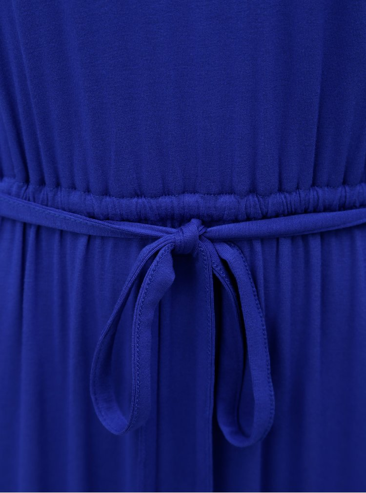 Modré maxišaty s krajkou na zádech Dorothy Perkins