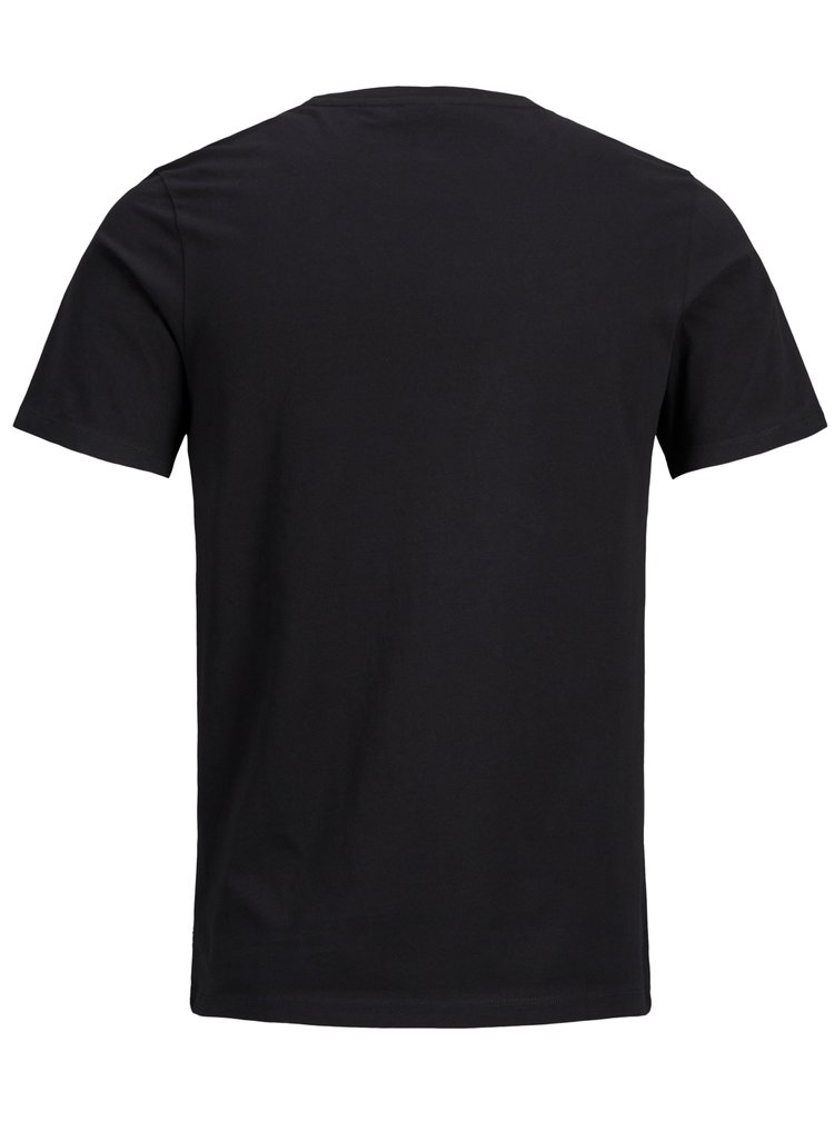 Černé slim fit tričko s potiskem Jack & Jones Flyn