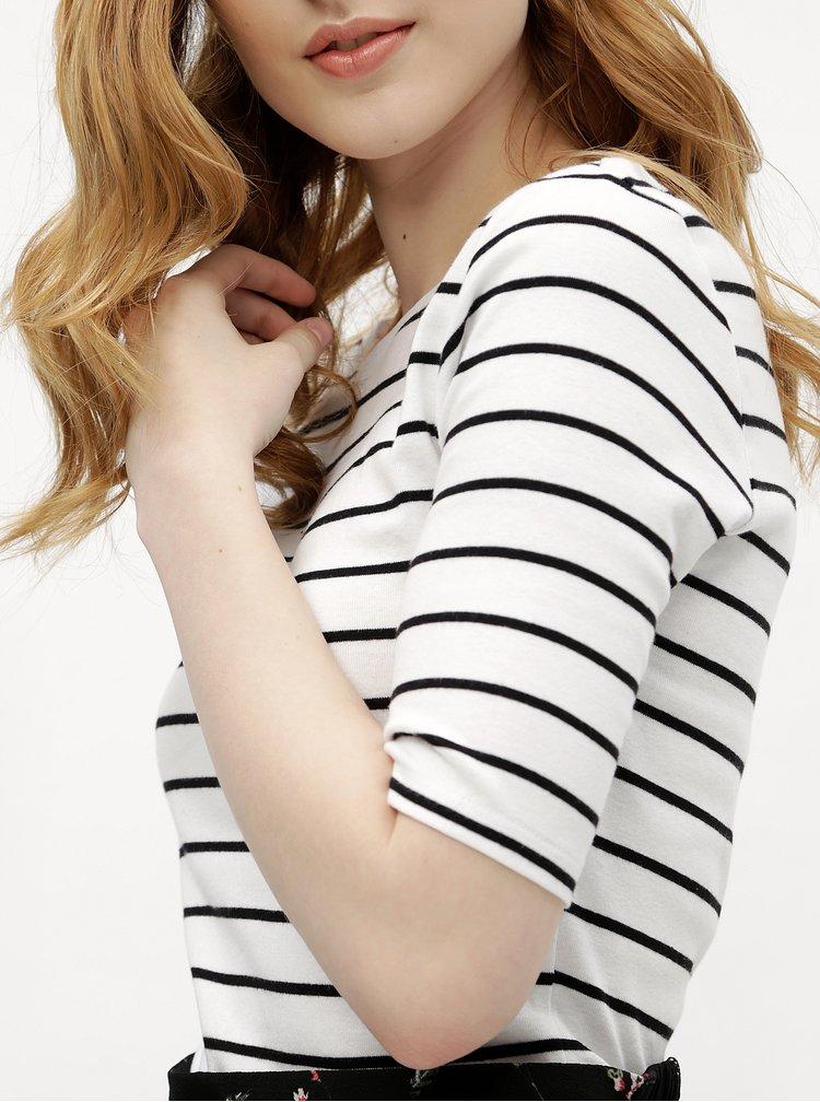 Bílé dámské pruhované tričko M&Co
