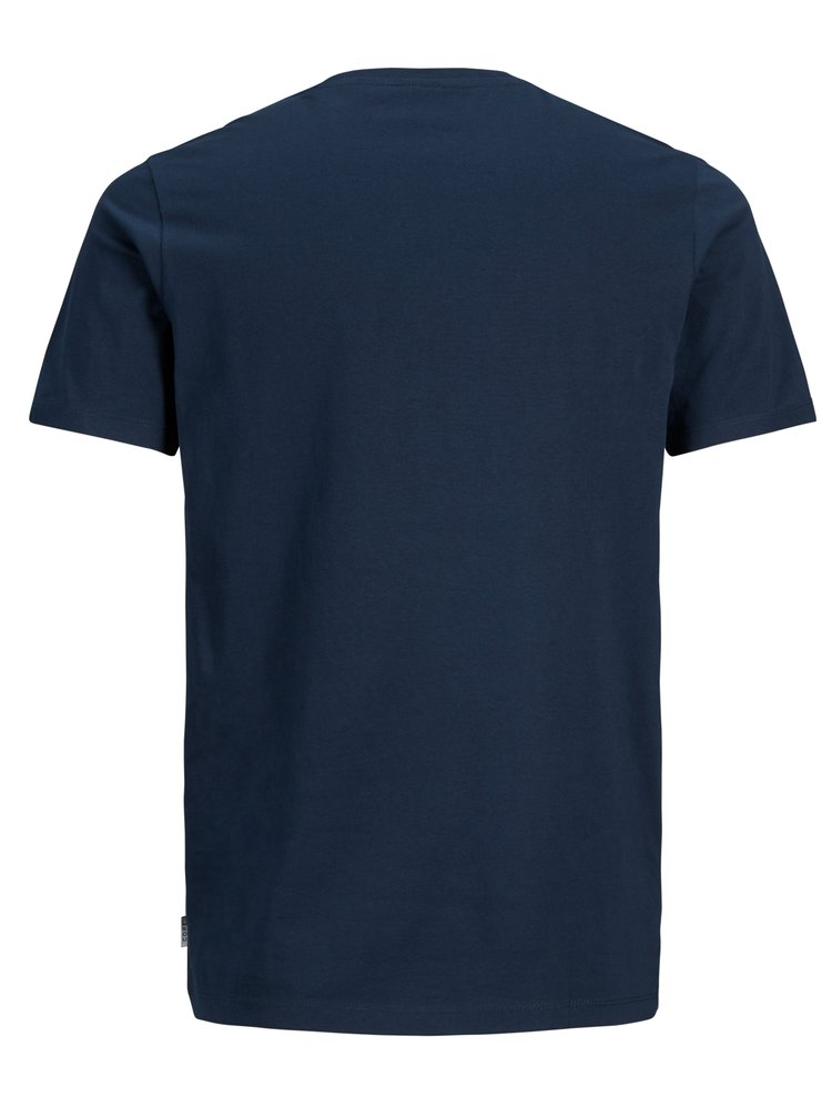 Tmavě modré slim fit tričko s potiskem Jack & Jones Flyn