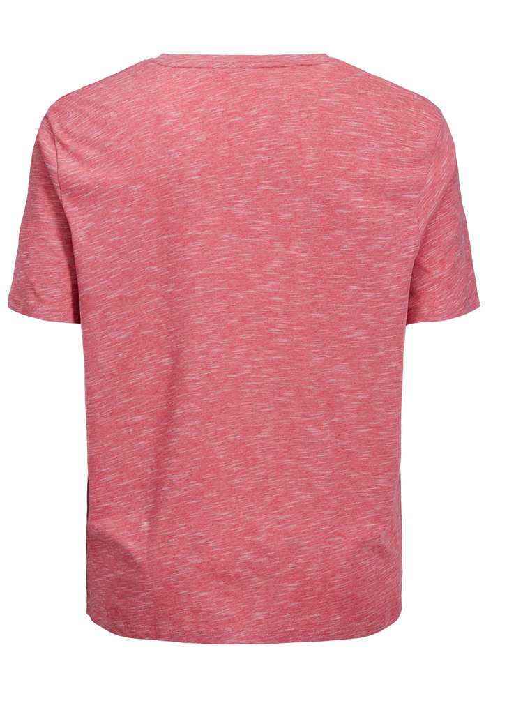 Tricou regular fit rosu melanj cu imprimeu Jack & Jones Feedercity