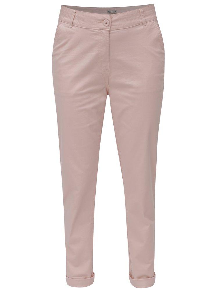 Světle růžové dámské chino kalhoty M&Co