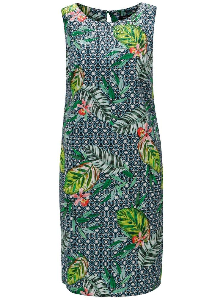 Tmavě zelené vzorované šaty M&Co