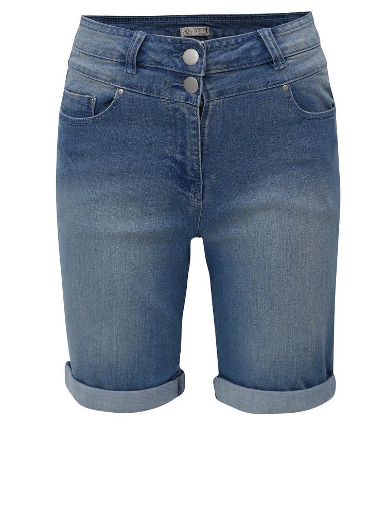 Modré dámské džínové kraťasy M&Co