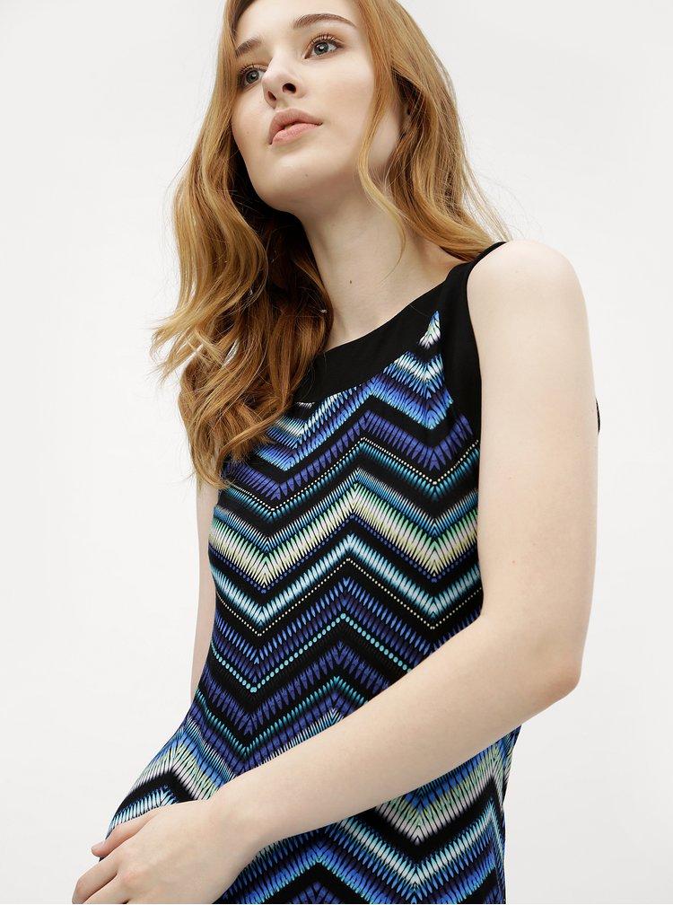 Tmavě modré vzorované maxišaty M&Co