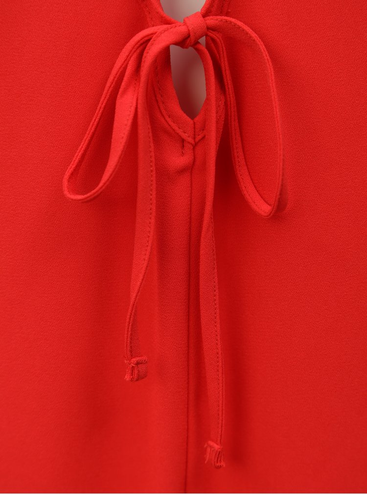 Rochie rosie cu volane la maneci Dorothy Perkins