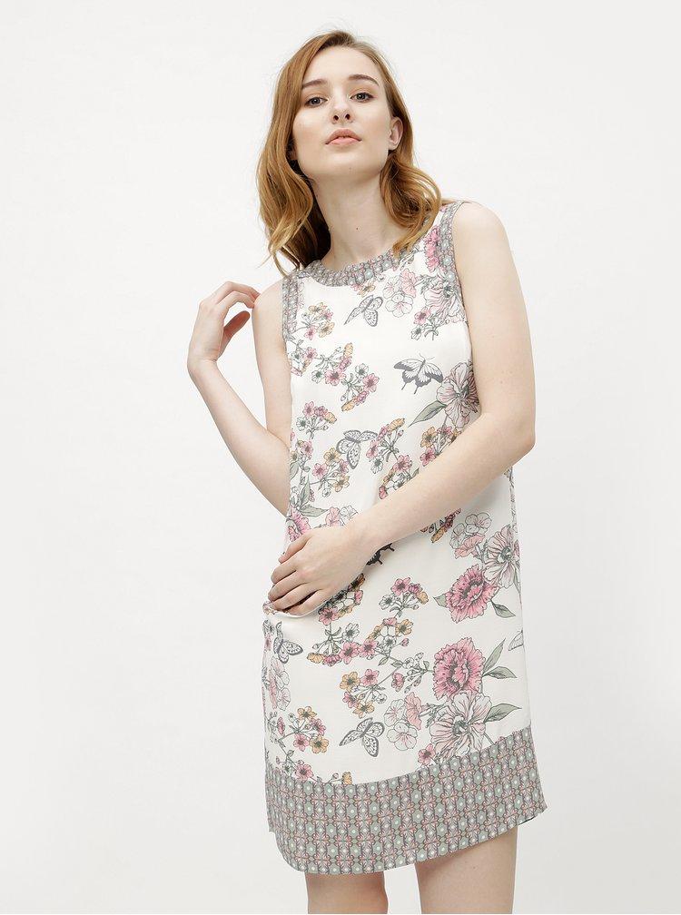 Bílé květované šaty M&Co
