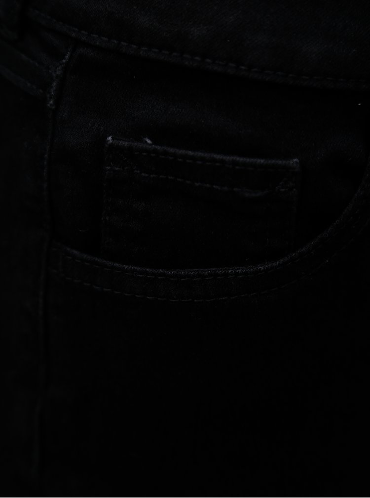 Černé džínové kraťasy Dorothy Perkins Tall