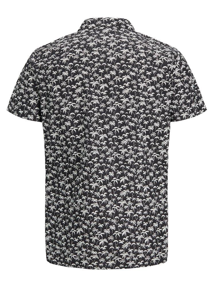 Černá vzorovaná slim fit košile Jack & Jones Premium Hawaii