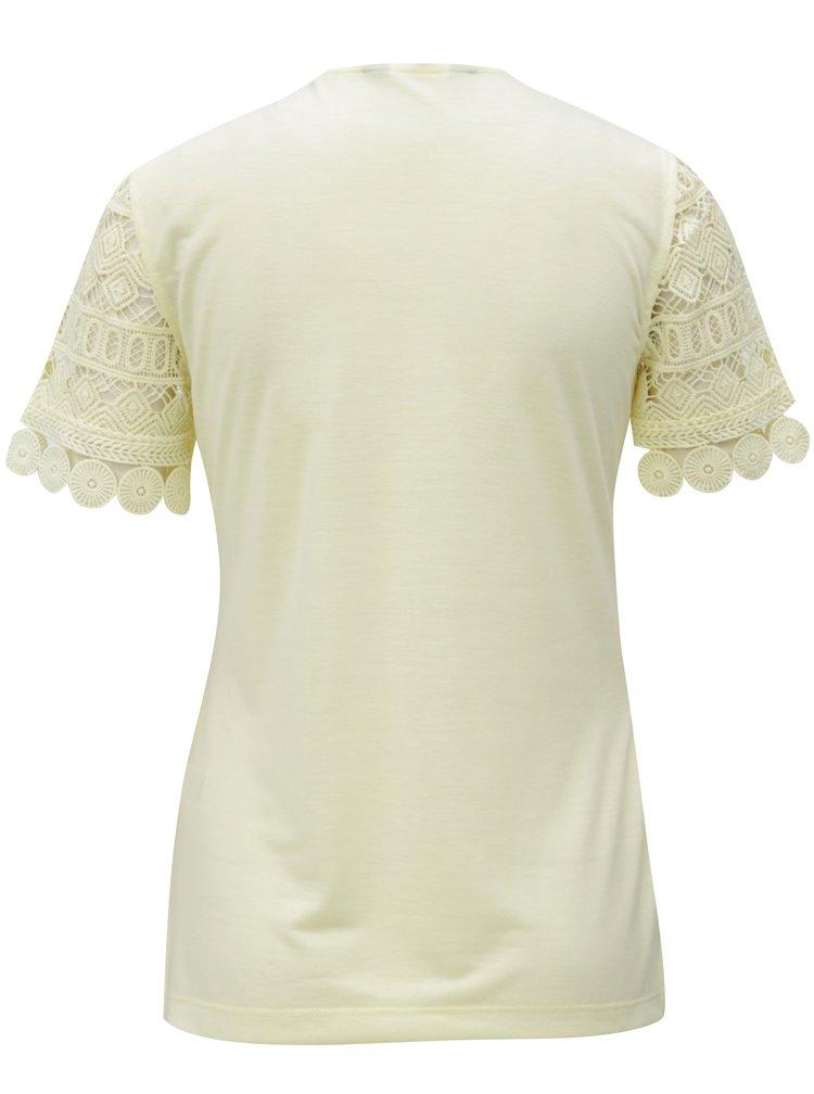 Tricou dantelat galben Dorothy Perkins Tall