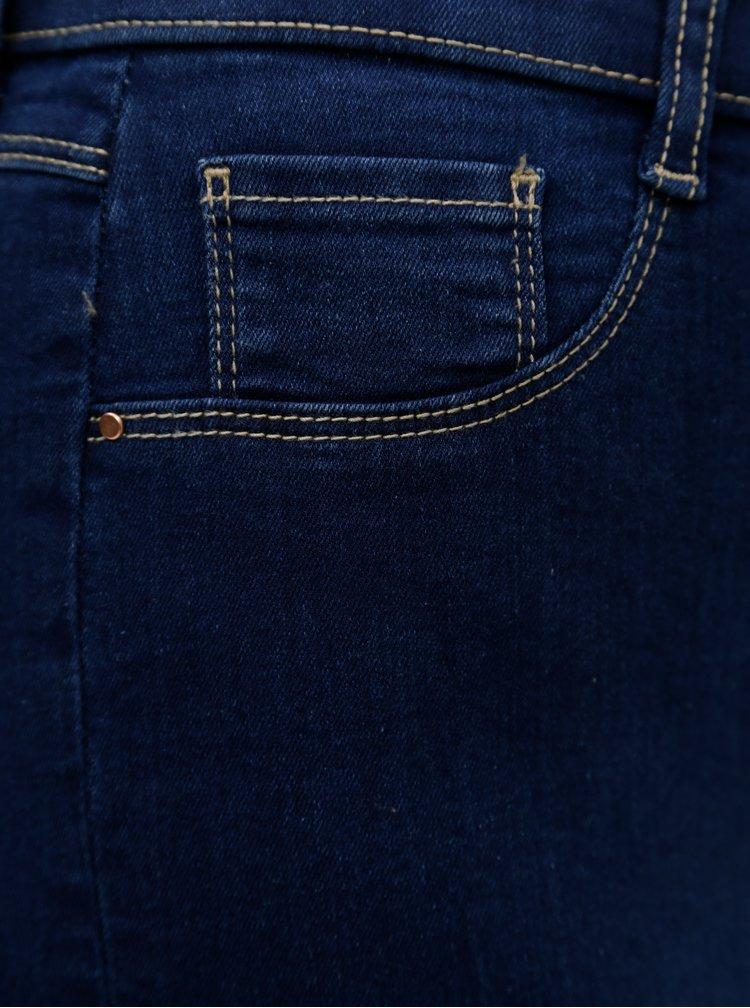 Tmavě modré zkrácené jeggings Dorothy Perkins Tall