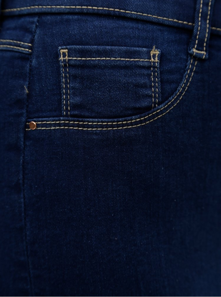 Tmavě modré zkrácené jeggings Dorothy Perkins Tall Eden