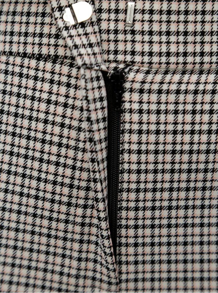 Krémovo-černé kostkované kalhoty Dorothy Perkins Tall