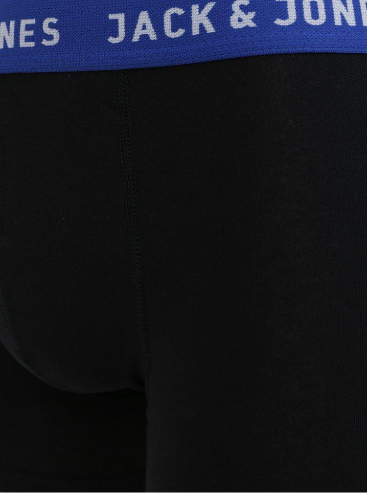 Sada pěti boxerek v tmavě modré, šedé a černé barvě Jack & Jones Dewey
