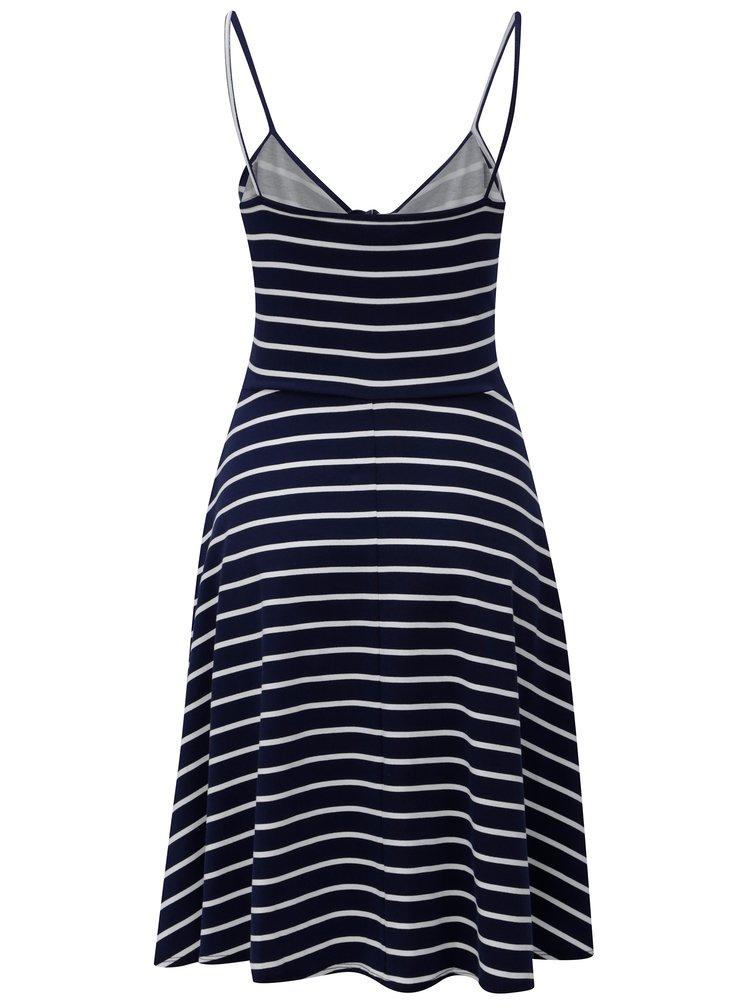 Tmavomodré pruhované šaty Dorothy Perkins Tall