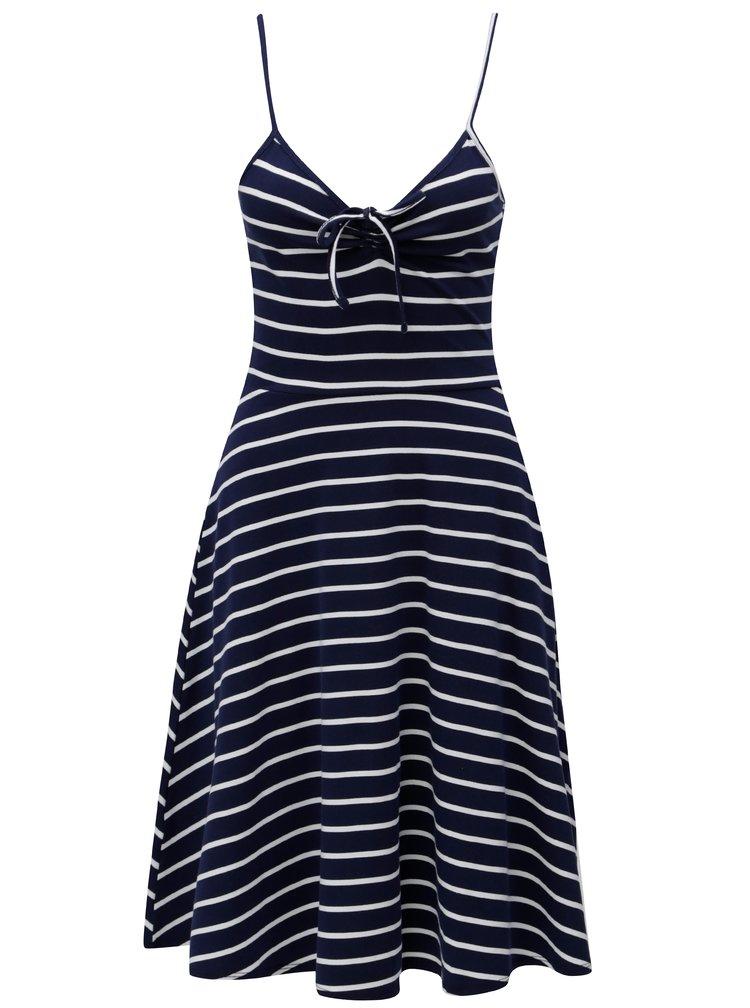 Tmavě modré pruhované šaty Dorothy Perkins Tall
