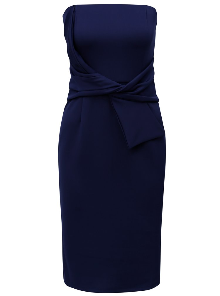 Rochie albastru inchis fara bretele cu funda Dorothy Perkins